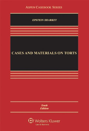 9780735599925: Cases and Materials on Torts, Tenth Edition (Aspen Casebooks)