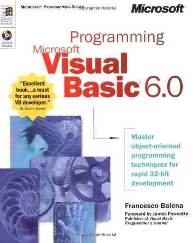 9780735605589: Programming Microsoft® Visual Basic® 6.0 (Mps)