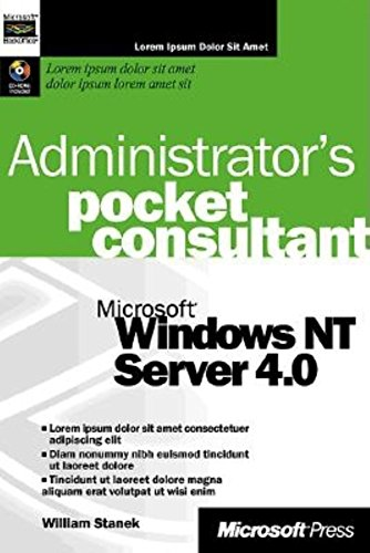 9780735605749: Microsoft Windows NT Server 4.0 Administrator's Pocket Consultant (Independent Administration/Support)