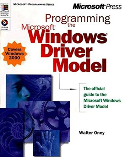 9780735605886: Programming the Microsoft Windows Driver Model (Microsoft Professional Series)
