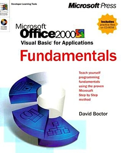 9780735605947: Microsoft Office 2000 Visual Basic for Applications Fundamentals (Developer Learning Tools)
