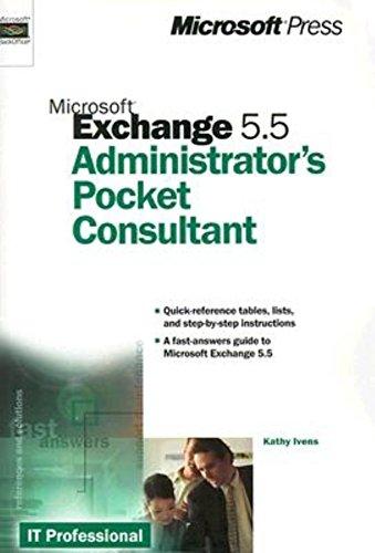 9780735606234: Microsoft Exchange 5.5 Administrator's Pocket Consultant