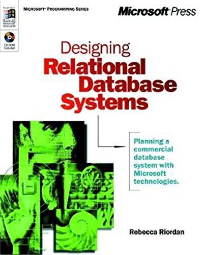 Designing Relational Database Systems (Dv-Mps Designing): Riordan, Rebecca M.