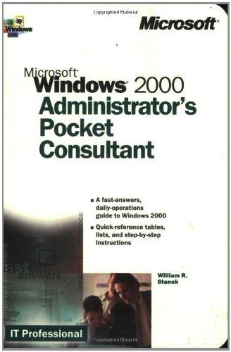 9780735608313: Microsoft Windows 2000 Administrator's Pocket Consultant