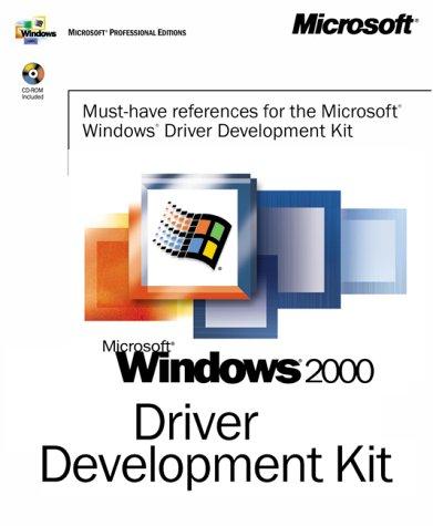 9780735609297: Microsoft Windows 2000 Driver Development Kit (Dv-Mpe Software Dev. Kit)
