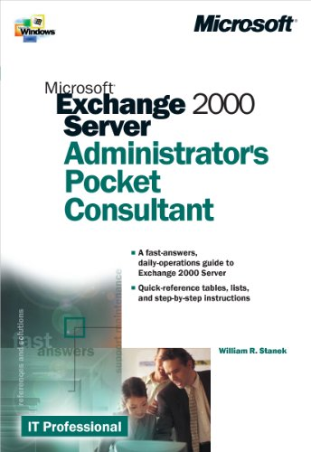 9780735609624: Microsoft� Exchange 2000 Server Administrator's Pocket Consultant