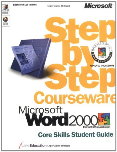 9780735609785: Microsoft Word 2000 Step by Step Courseware Core Skills Class Pack