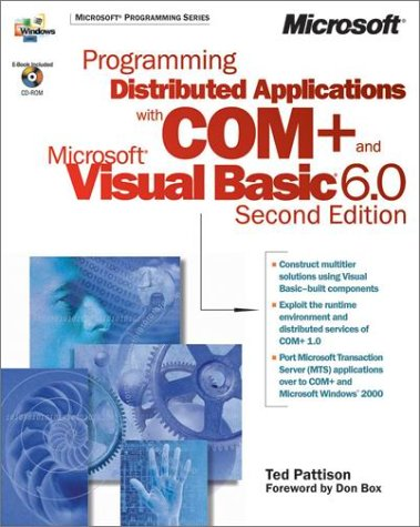 9780735610101: PROGRAMMING DISTRIBUTED APPLICATIONS WITH COM+ & MICROSOFT VB6 (Book & CD)