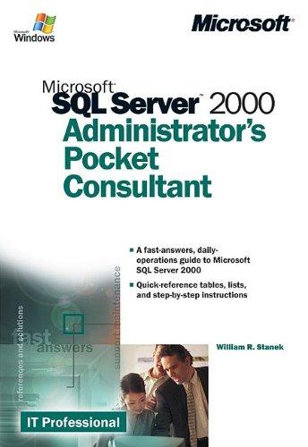 9780735611290: Microsoft® SQL Server? 2000 Administrator's Pocket Consultant (It-Administrator's Pocket Consultant)
