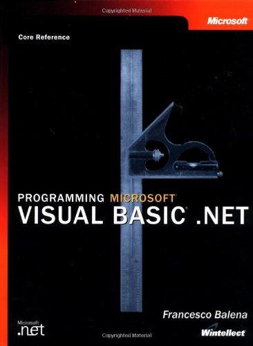 9780735613751: Programming Visual Basic .NET: Core Reference