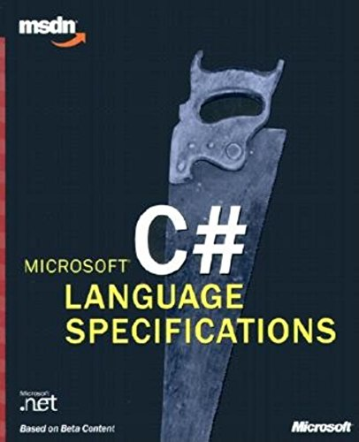 9780735614482: C# Language Specifications (Msdn)