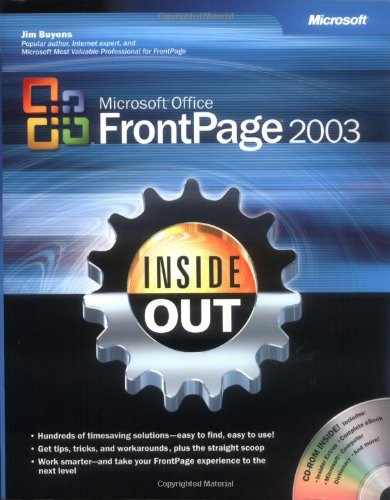 9780735615106: Microsoft® Office FrontPage® 2003 Inside Out (Bpg-Inside Out)