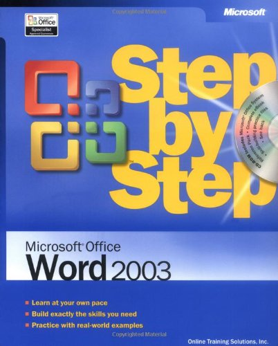9780735615236: Microsoft® Office Word 2003 Step by Step