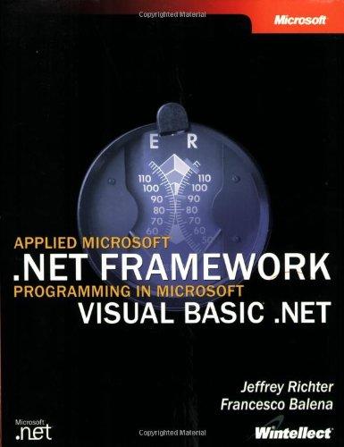 9780735617872: Applied Microsoft® .NET Framework Programming in Microsoft® Visual Basic® .NET (Developer)