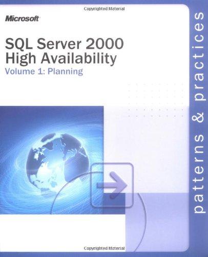 9780735618350: SQL Server 2000 High Availability Volume 1: Planning