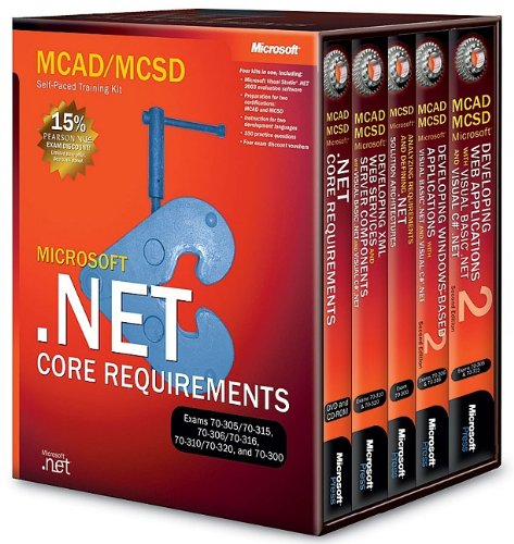 9780735619258: MCAD/MCSD Self-Paced Training Kit: Microsoft (2nd Edition) .NET Core Requirements, Exams 70-305, 70-315, 70-306, 70-316, 70-310, 70-320, and 70-300 box vol. set