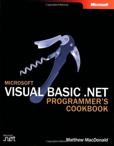 9780735619319: Microsoft Visual Basic .NET Programmer's Cookbook (Developer Reference)