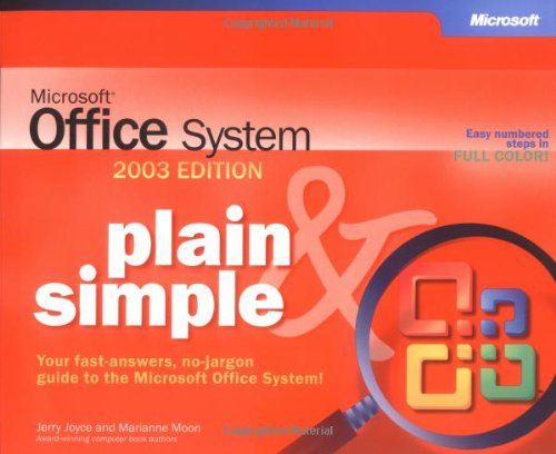 9780735619821: Microsoft® Office System Plain & Simple -- 2003 Edition (Bpg-Plain & Simple)