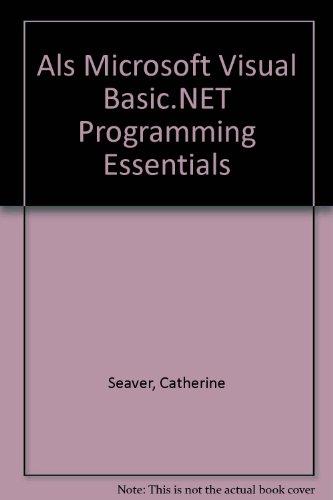 9780735620575: Als Microsoft Visual Basic.NET Programming Essentials