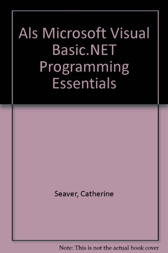 9780735620575: Microsoft Visual Basic .NET Programming Essentials