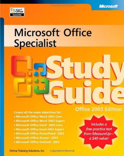 9780735621107: Microsoft® Office Specialist Study Guide Office 2003 Edition (Epg-Other)