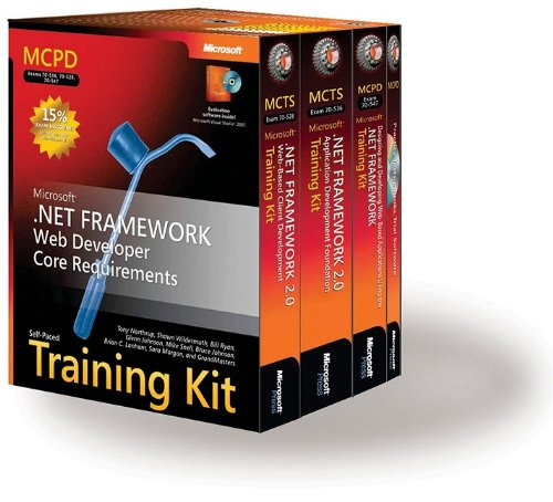 9780735623767: MCPD Self-Paced Training Kit (Exams 70-536, 70-528, 70-547): Microsoft� .NET Framework Web Developer Core Requirements (Certification)