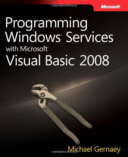 9780735624337: Programming Windows Services with Microsoft Visual Basic 2008