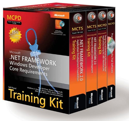 9780735625013: MCPD Self-Paced Training Kit (Exams 70-536, 70-526, 70-548): Microsoft® .NET Framework Windows® Developer Core Requirements: Microsoft(r) .Net ... Requirements (Microsoft Press Training Kit)