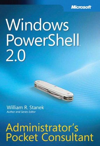 9780735625952: Windows PowerShell 2.0 Administrators Pocket Consultant: Administrator's Pocket Consultant