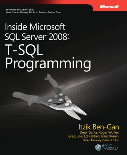 9780735626027: Inside Microsoft� SQL Server� 2008: T-SQL Programming (Developer)