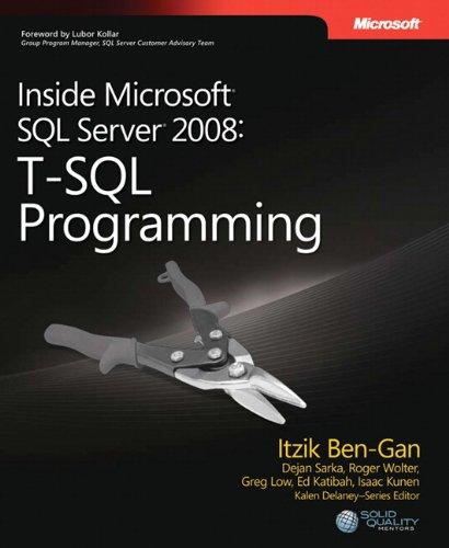9780735626027: Inside Microsoft® SQL Server® 2008: T-SQL Programming (Developer Reference)
