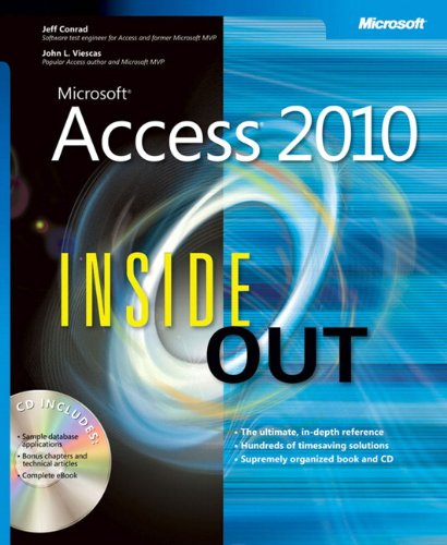 9780735626850: Microsoft Access 2010 Inside Out Book/CD Package