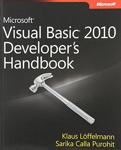9780735627055: Microsoft Visual Basic 2010 Developer's Handbook (Developer Reference)