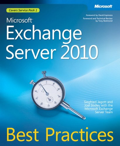 9780735627192: Microsoft Exchange Server 2010 Best Practices