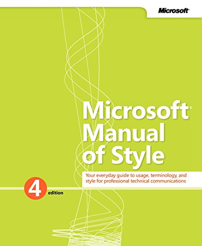 9780735648715: Microsoft Manual of Style (4th Edition)