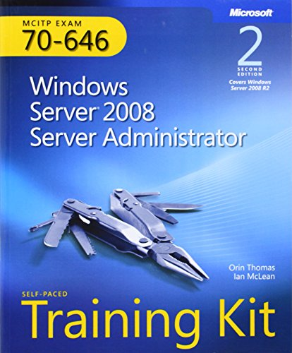 9780735649095: MCITP Self-Paced Training Kit (Exam 70-646): Windows Server 2008 Server Administrator, 2nd Edition Book/CD Package