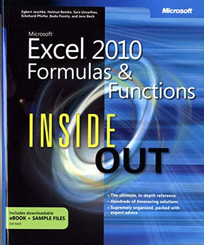 9780735658028: Microsoft Excel 2010 Formulas and Functions Inside Out