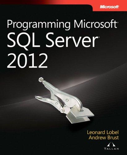 9780735658226: Programming Microsoft SQL Server 2012 (Developer Reference)