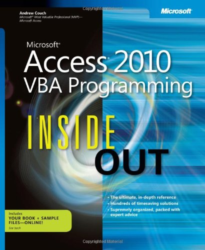 9780735659872: Microsoft Access 2010 VBA Programming Inside Out