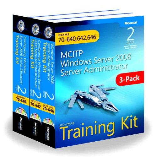 9780735663282: MCITP Windows Server 2008 Server Administrator: Training Kit 3-Pack: Exams 70-640, 70-642, 70-646 (Microsoft Press Training Kit)