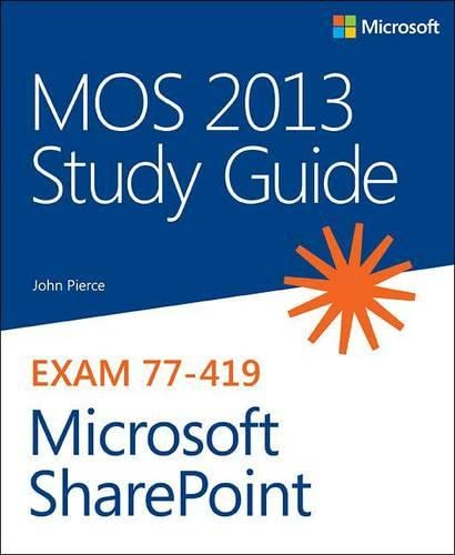 9780735669246: Mos 2013 Study Guide for Microsoft Sharepoint