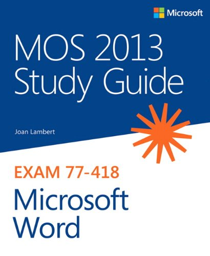 9780735669253: MOS 2013 Study Guide for Microsoft Word (MOS Study Guide)