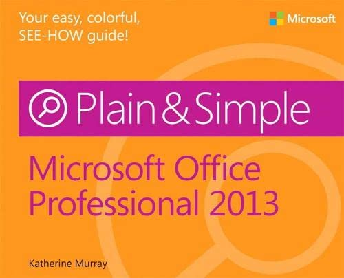 9780735669321: Microsoft Office Professional 2013 Plain & Simple