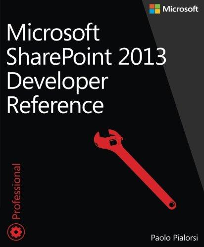 9780735670716: Microsoft SharePoint 2013 Developer Reference