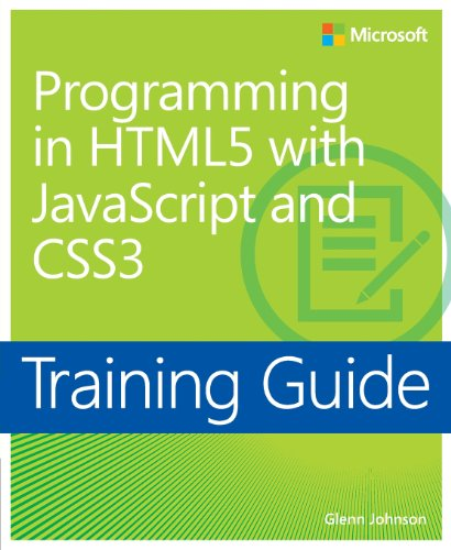 9780735674387: Training Guide Programming in HTML5 with JavaScript and CSS3 (MCSD) (Microsoft Press Training Guide)