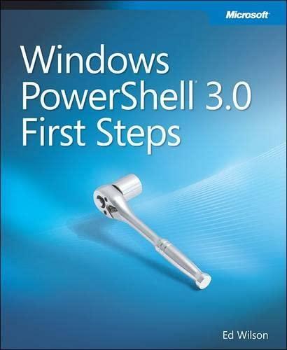 9780735676152: Windows PowerShell(TM) 3.0 First Steps