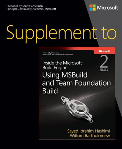 9780735678163: Supplement to Inside the Microsoft Build Engine: Using MSBuild and Team Foundation Build