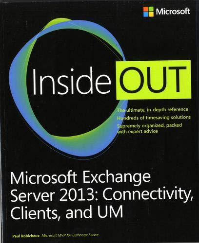 9780735678378: Microsoft Exchange Server 2013 Inside Out Connectivity, Clients, and UM