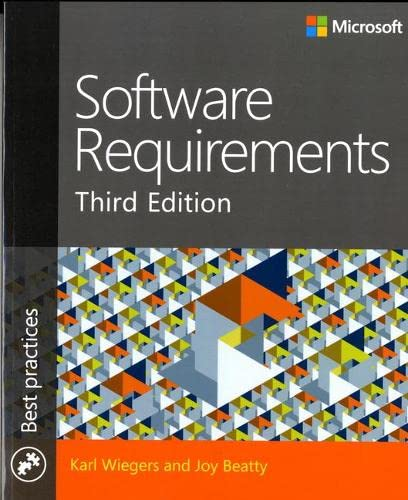 9780735679665: Software Requirements 3rd Edition