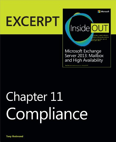 9780735680869: Compliance: EXCERPT from Microsoft Exchange Server 2013 Inside Out (Inside Out (Microsoft))